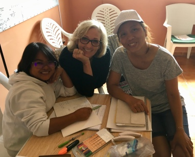 Cindy with our two Thai staff who also attended.